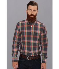 Gant Rugger India Slub Madras E-Z Original Button Down Lead at 6pm