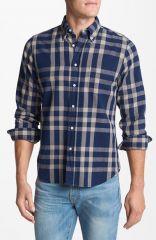 Gant Rugger Indigo Check Oxford Shirt at Nordstrom