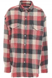Garance checked cotton-blend flannel shirt at The Outnet
