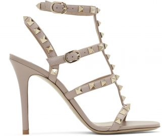 Garavani Rockstude Cage Sandals by Valentino at Ssense