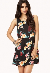 Garden Floral Layered Dress at Forever 21