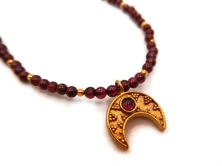 Garnet Moon Necklace by Jewelry by Andrea at Jewelry by Andrea