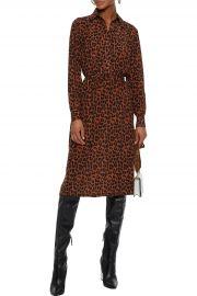 Gart belted leopard-print silk shirt dress at The Outnet