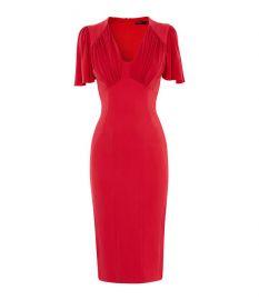 Gathered Detail Midi Dress at Karen Millen