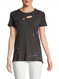 Gauzy Distressed Cotton Tee at Saks Off Fifth