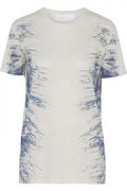 Gella printed linen T-shirt at The Outnet