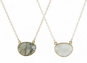 Gem Drop Necklace at Peggy Li