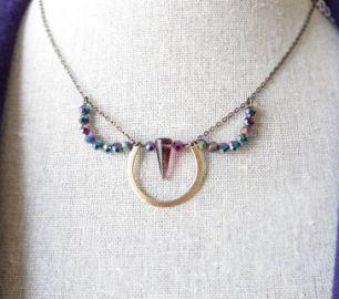 Gem Lark Dagger Necklace at Etsy