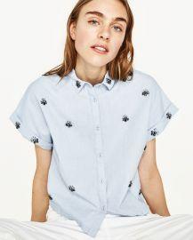 Gem Shirt Sky Blue at Zara