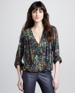 Gemma floral top by Alice and Olivia at Bergdorf Goodman