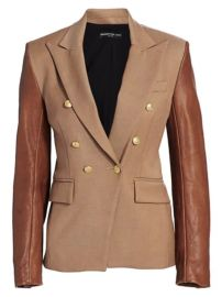 Generation Love - Enzo Leather Sleeve Blazer at Saks Fifth Avenue