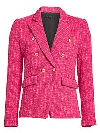 Generation Love - Alexa Tweed Double-Breasted Blazer at Saks Fifth Avenue