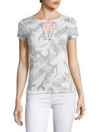 Generation Love - Hugo Short Sleeve Lace-Up Top at Saks Fifth Avenue