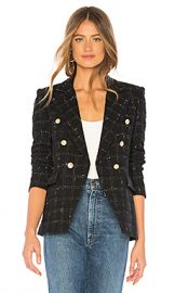 Generation Love Alexa Blazer in Black  amp  White from Revolve com at Revolve