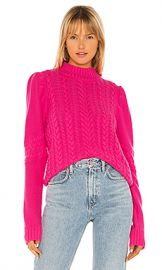 Generation Love Isabella Cable Knit Sweater in Hot Pink from Revolve com at Revolve
