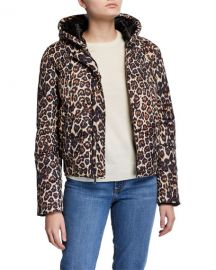 Generation Love Liam Hooded Leopard-Print Puffer Jacket at Neiman Marcus