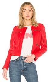 Generation Love Michelle Moto Jacket in Red from Revolve com at Revolve