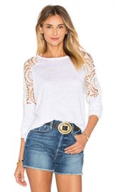 Generation Love Veronica Linen Top in White from Revolve com at Revolve