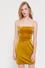 Genova Velvet dress at Urban Outfitters