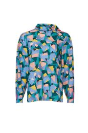 Geo Print Blouse by Coach at Rent The Runway