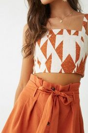 Geo Print Cropped Cami by Forever 21 at Forever 21