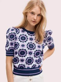 Geo floral sweater at Kate Spade