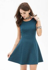 Geo patterned fit and flare dress at Forever 21