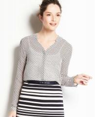 Geo print blouse at Ann Taylor