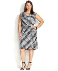 Geo print cowl neck dress at Macys