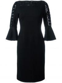 Geometric Lace Knit Dress by Fendi at Farfetch