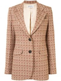 Geometric Pattern Single-Breasted Blazer by Victoria Beckham  at Farfetch