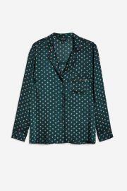 Geometric Print Pyjama Shirt at Topshop