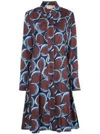 Geometric Print Shirt Dress by Marni at Farfetch