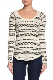 Geometric Print Thermal Knit Shirt by Lucky Brand at Nordstrom Rack