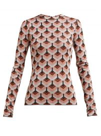 Geometric metallic-jacquard top by Paco Rabanne at Matches