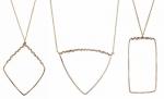 Geometric shape necklace by Peggy Li at Peggy Li