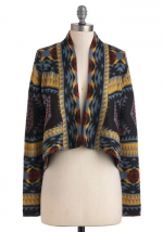 Geometric style cardigan from Modcloth at Modcloth