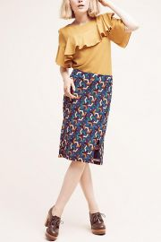 Geometrique Pencil Skirt at Anthropologie