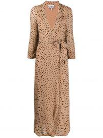 Georgette Crepe Polka Dot Dress by Ganni at Farfetch