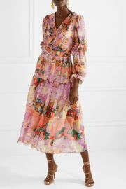 Georgette Floral Midi Dress by Petter Pilotto at Net A Porter