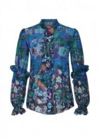 Georgette Tie Blouse by Peter Pilotto at Rent The Runway