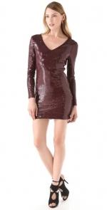 Georgina's sequin dress at Shopbop