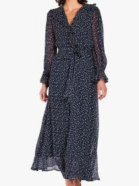 Ghost Star Print Ruffle Detail Maxi Dress at John Lewis