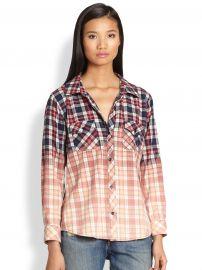Gia Bleach Dipped Plaid Flannel Shirt by Rails at Saks Fifth Avenue