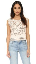 Giada Forte Embroidered Floral Top at Shopbop