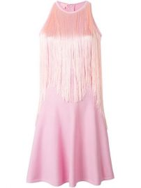 Giamba Fringed Panel Flared Dress  - Di Pierro at Farfetch