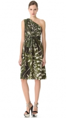 Giambattista Valli vine printed one shoulder dress at Shopbop