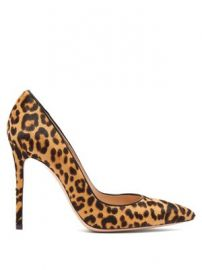 Gianvito 100 leopard-print calf-hair pumps at Matches