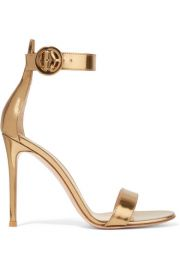 Gianvito Rossi - Portofino 105 metallic leather sandals at Net A Porter