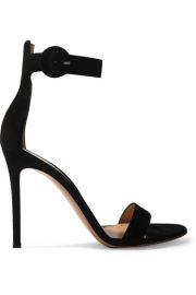 Gianvito Rossi - Portofino 105 suede sandals at Net A Porter